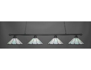 Mendez Tiffany 4-Light Billiard Pendant by Red Barrel Studio