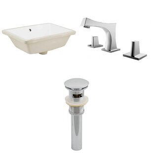 Best Reviews Ceramic Rectangular Undermount Bathroom Sink with Faucet and Overflow ByRoyal Purple Bath Kitchen
