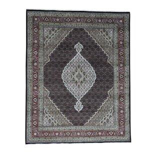 Best Price Samons Mahi Hand-Knotted Black Area Rug ByAstoria Grand