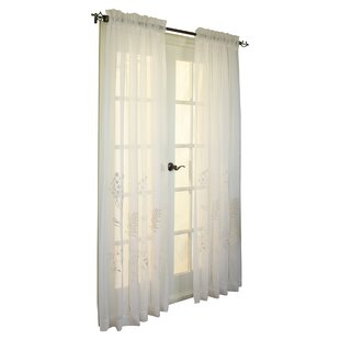 Irenee Nature/Floral Sheer Rod Pocket Single Curtain Panel by August Grove