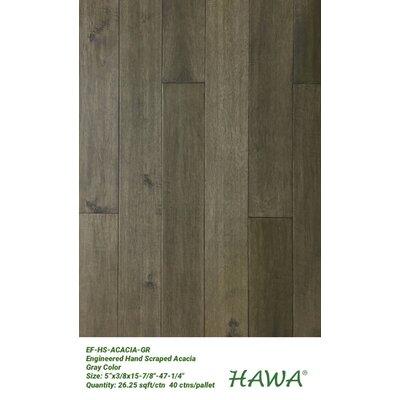 """5"""" Engineered Acacia Hardwood Flooring Hawa Bamboo"""
