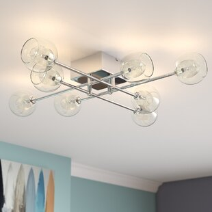 Maspeth 8-Light Semi Flush Mou..