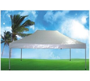 10 Ft. W x 15 Ft. D Steel Pop-Up Canopy by Pool Central