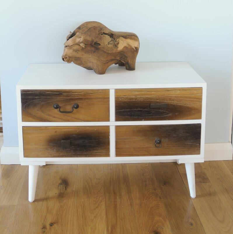 homestead living beistelltisch hestur mit stauraum. Black Bedroom Furniture Sets. Home Design Ideas