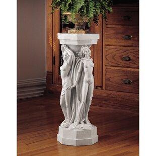 Hazelip Maenads Sculpture Pedestal Plant Stand by Astoria Grand