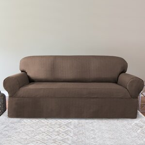 Bayside Box Cushion Sofa Slipcover by ..