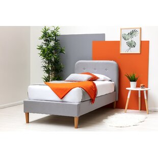 Mayra Single (3') Upholstered Bed Frame With Mattress By Isabelline