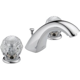 Budget Classic Widespread Bathroom Faucet with Double Knob Handles ByDelta