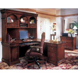 Three Posts Flannagan 3-Piece L-Shape Desk Office Suite