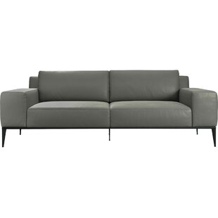 Elizabeth Leather Sofa by Modloft Black