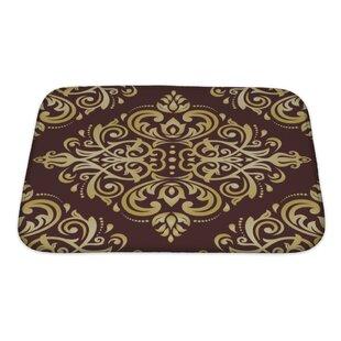 Delta Damask Ornament Fine Traditional Oriental Pattern Bath Rug