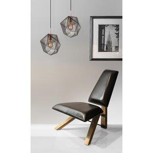 Hahn Slipper Chair In Black PU Leather