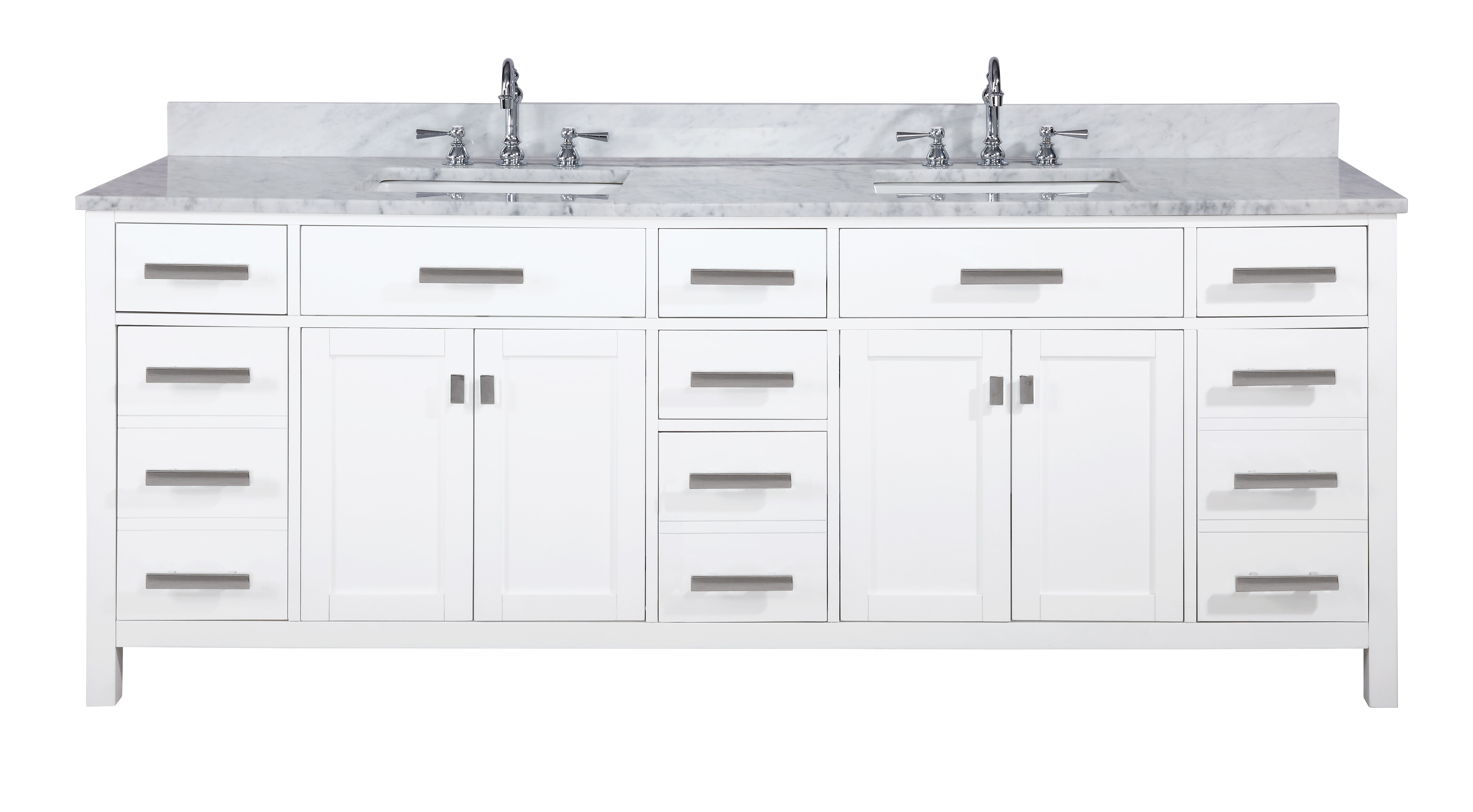 Highland Dunes Valentino 84 Double Bathroom Vanity Reviews
