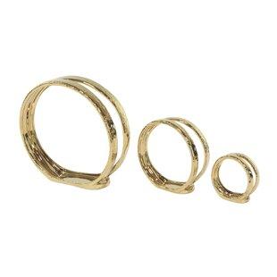 Modern Ring 3 Piece Votive Set