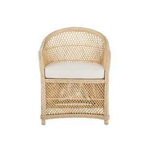 Rosecliff Heights Grand Ridge Rattan Lounge Arm Chair with Armrest