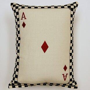 Ace of Diamonds Parchment Cotton Lumbar Pillow