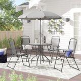 Tollette 5 Piece Sunbrella Dining Set with Umbrella by Zipcode Design