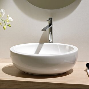 Reviews Planet Ceramic Oval Vessel Bathroom Sink with Overflow ByScarabeo by Nameeks