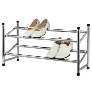 Expandable Space Saving 2-Tier 8 Pair Shoe Rack By Sweet Home Collection