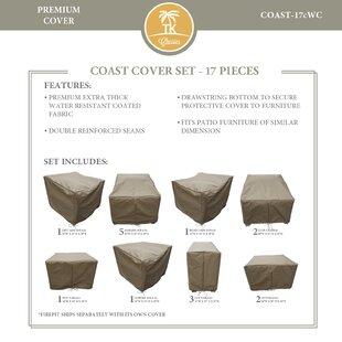 TK Classics Coast 17 Piece Protective Patio Sofa Set Cover