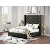 Aymer King Tufted Upholstered Standard Bed by Latitude Run