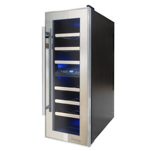 21 Bottle Dual Zone Freestanding Wine ..