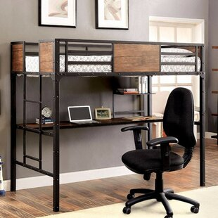 Southmead Twin Bunk Bed with Workstation ByHarriet Bee