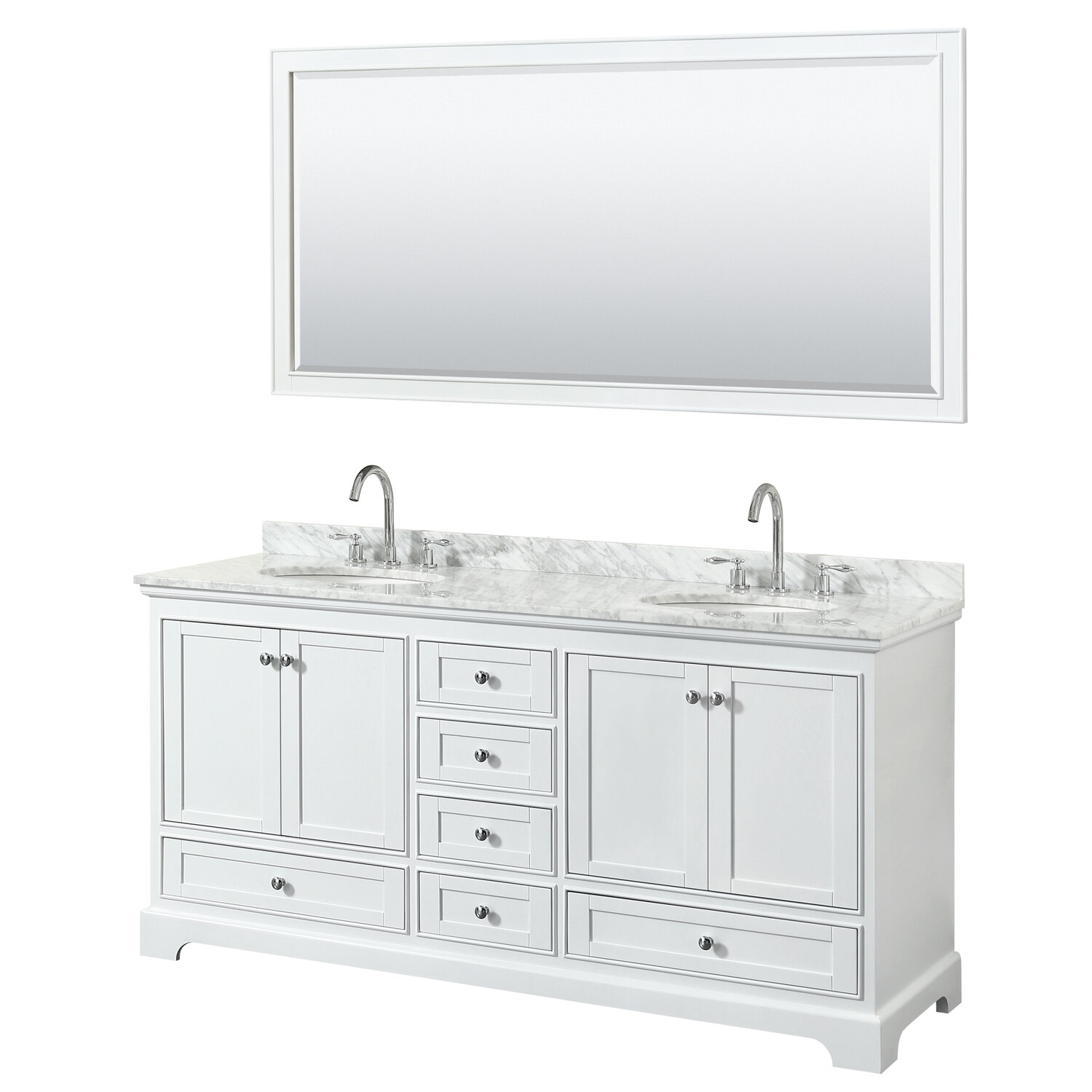 Wyndham Collection Deborah 72 Double Bathroom Vanity Set With Mirror Wayfair