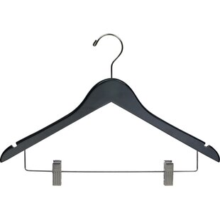 Read Reviews Non-Slip Hanger with Adjustable Cushion Clips (Set of 100) By Rebrilliant