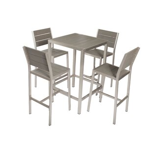 Rosecliff Heights Mabery 5 Piece Bar Height Dining Set
