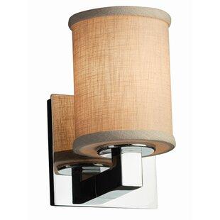 Red Hook 1 Light Cylinder w/ Flat Rim Drum Flush Mount by Latitude Run