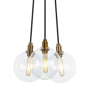 Herberts 3-Light Cluster Pendant by Brayden Studio