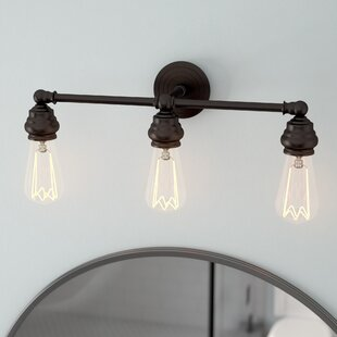 Laurel Foundry Modern Farmhouse Ivie Traditional 3-Light Metal Vanity Light