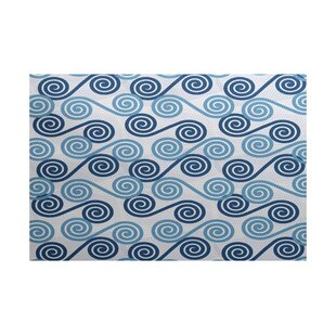 Nikkle Blue/White Indoor/Outdoor Area Rug By Latitude Run