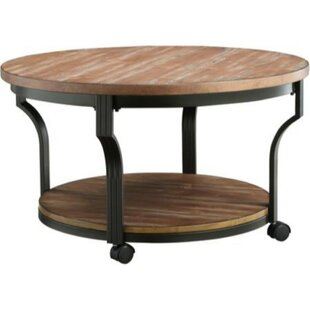 Williston Forge Brann Round Metal Framed Coffee Table