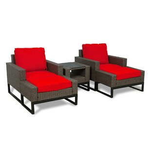 Bawden 5 Piece Rattan Conversation Set with Cushions