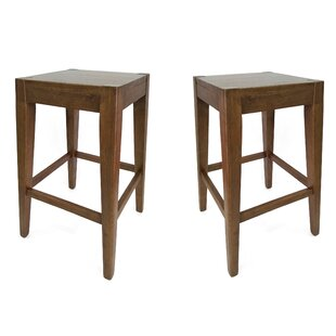 Dorian Wooden Counter 26 Bar Stool (Set of 2) Loon Peak