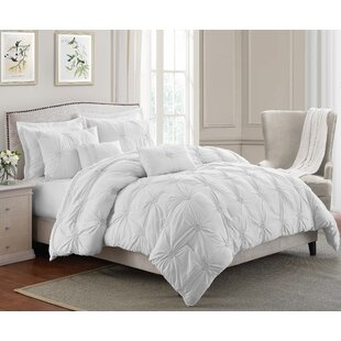White Pinch Pleat Comforter Wayfair