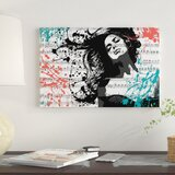 'The Music In Me, White'  by Julie-Mila Bouffard Graphic Art Print on Wrapped Canvas