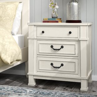 Lark Manor Parfondeval 3 Drawer Wood Nightstand