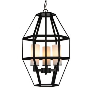Cell 3-Light Geometric Chandelier by CWI Lighting