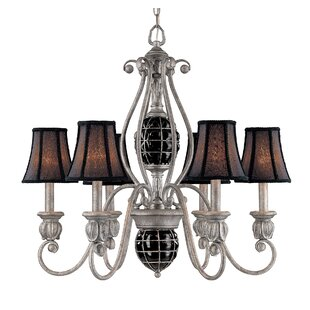 Classic Lighting Catturatto 6-Light Shaded Chandelier