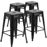Metal Bar & Counter Stool (Set of 4) by Flash Furniture