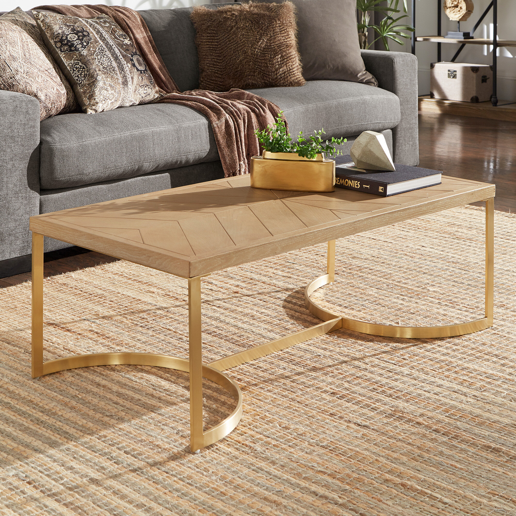 Everly Quinn Hunsinger Frame Coffee Table Wayfair