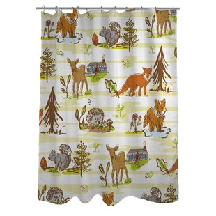 Woodland Vignettes Single Shower Curtain
