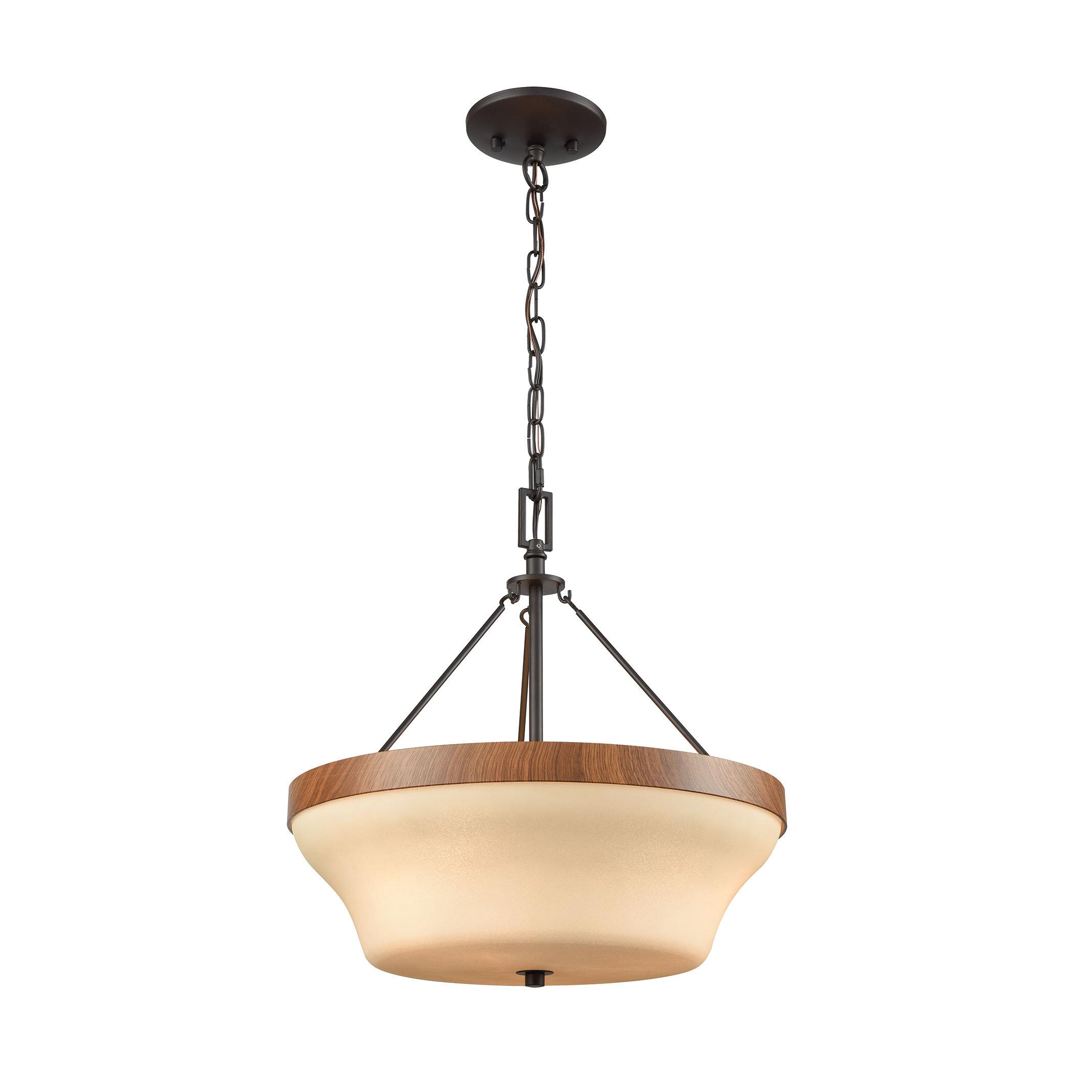 Millwood Pines Leisha 3 Light Single Bowl Pendant Wayfair