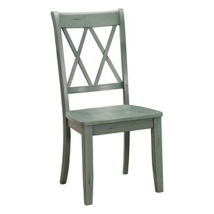 Cheryll Solid Wood Cross Back Side Chair (Set of 2)
