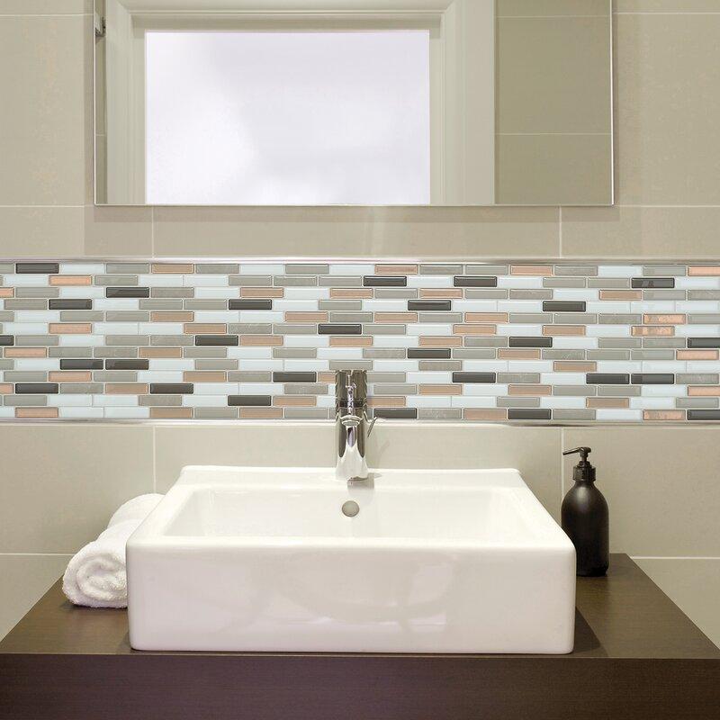 Smart Tiles Milenza9 X 10 Gel Peel Stick Mosaic Tile Reviews Wayfair Ca