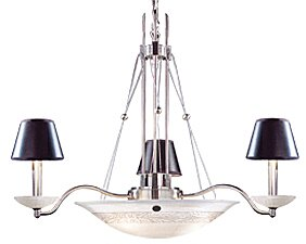3-Light Shaded Chandelier by JB Hirsch Home Decor
