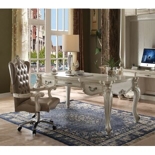 Malm Executive Desk With Hutch And Chair Set by Astoria Grand Design